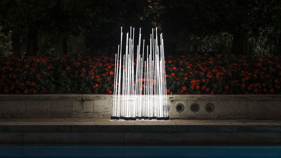 Artemide Reeds Outdoor Led Floor Lamp Exterior Lighting Design Floor Lights