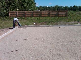Forming A Concrete Slab   How To Build Forms And Pour A Concrete Slab