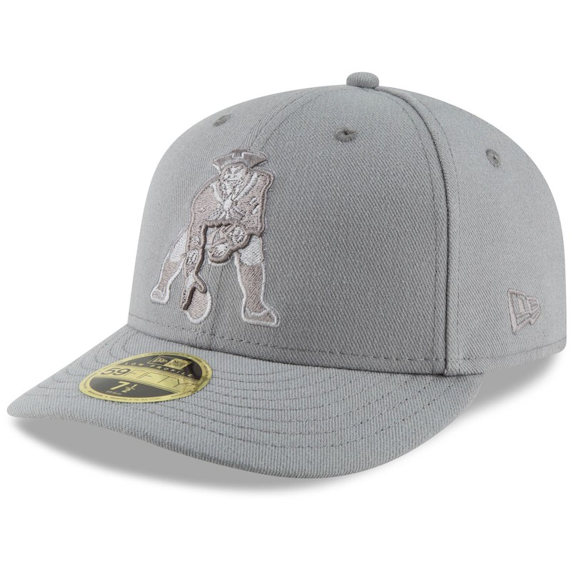 new style c5852 bfb38 New England Patriots New Era League Basic Low Profile 59FIFTY Fitted Hat -  Gray