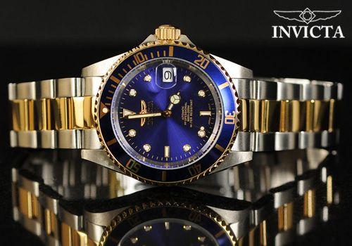 Αυτόματο ανδρικό ρολόι Invicta με μπλε καντράν από 289€ Μόνο 139 ... b4a8b298033