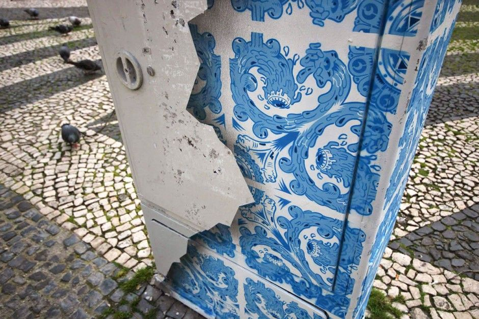 ... extension of Fuel's ongoing Street Ceramic work, where modern interpretations of tile patterns (Portugues Azulejos) are installed onto building facades