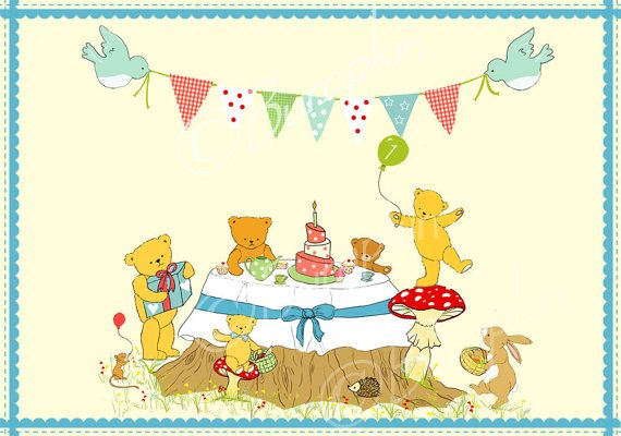 Teddy Bear Picnic Shower  Personalized Teddy Bears Picnic