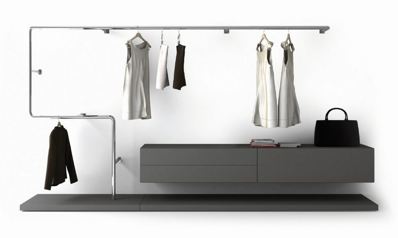Hanging Closet Rod By Pianca   Snake: Unusual, Modern