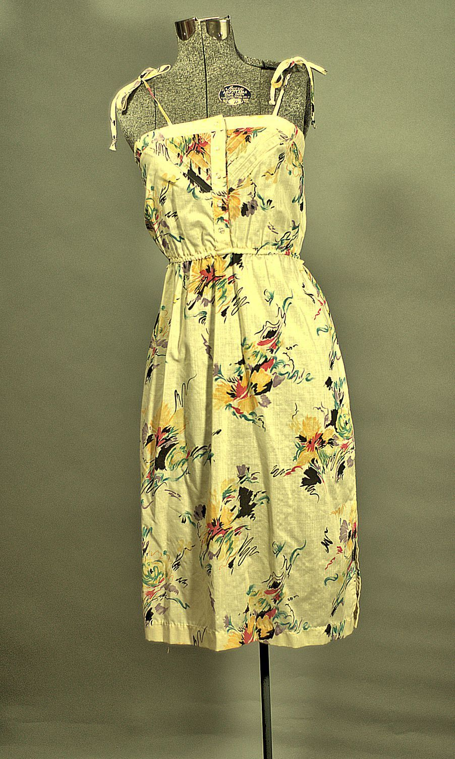 Vintage California Boho Summer Cotton Sundress Just In Cotton Sundress Vintage Summer Dresses