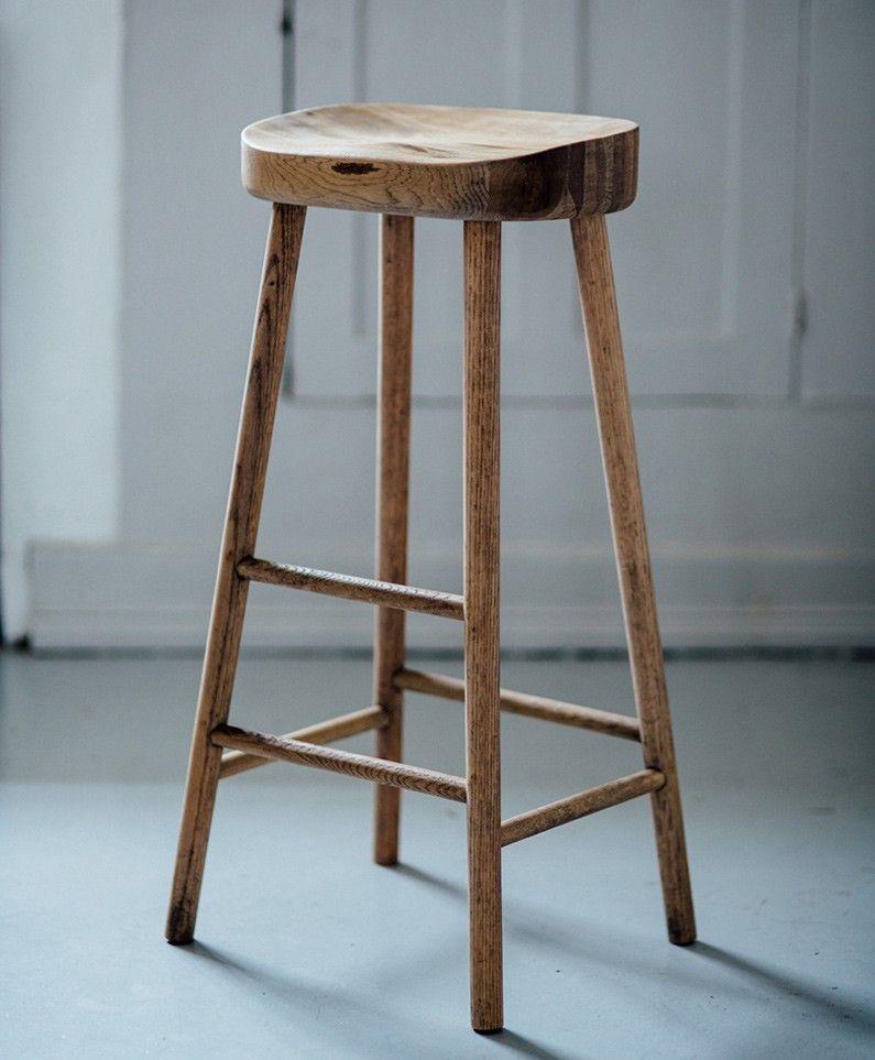 Bailey Oak Stool Oak Bar Stools Wood Bar Stools Wooden Bar Stools