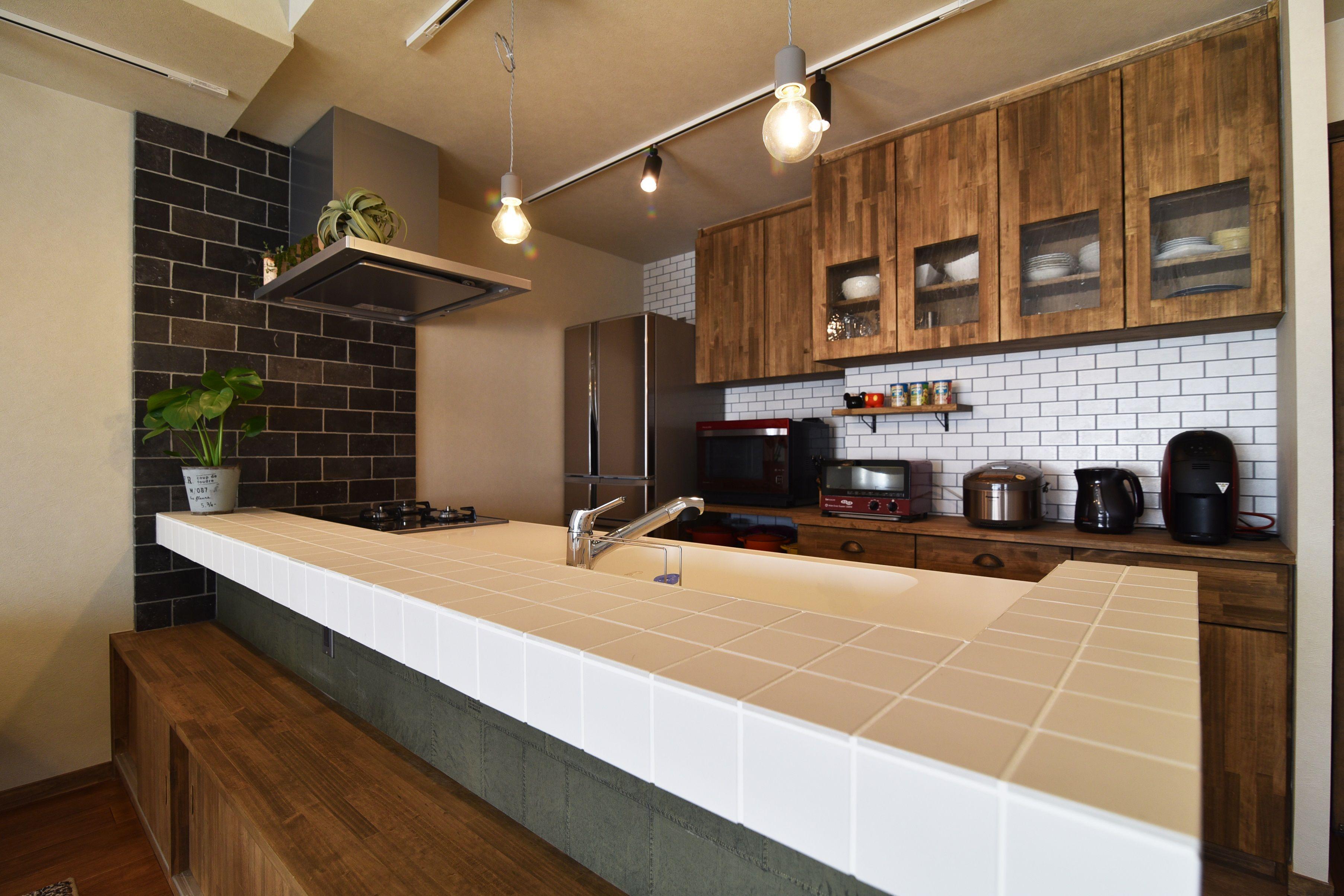 キッチン 照明 キッチンバック インテリア実例 Interior