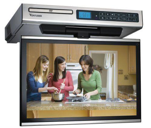 Venturer Klv3915 15 4 Inch Undercabinet Kitchen Lcd Tv Dvd Combo