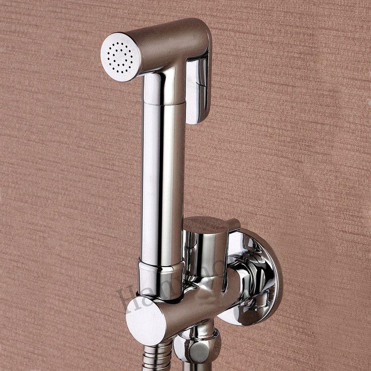 Aliexpress Com Buy Toilet Hand Held Bidet Spray Shower Head Douche Kit Shatta Brass Copper Valve Bathroom Bidet Sprayer Jet Tap Holde Decoracion Banos Banos