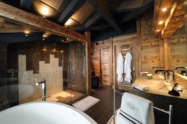 Salle de bain chalet à Courchevel | chalet | Pinterest | Saunas ...