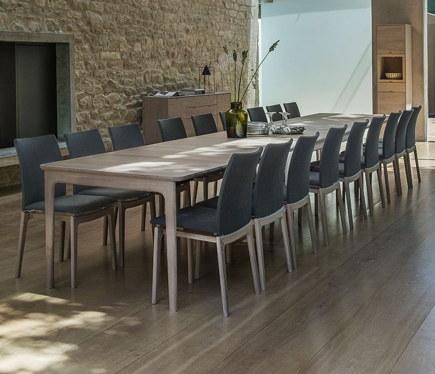 Dining Table That Seats 20 With Images Long Dining Table Oak