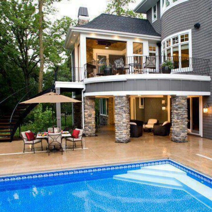 Pin By Jennifer Mcallister On Amazing Pools House Dream House Home