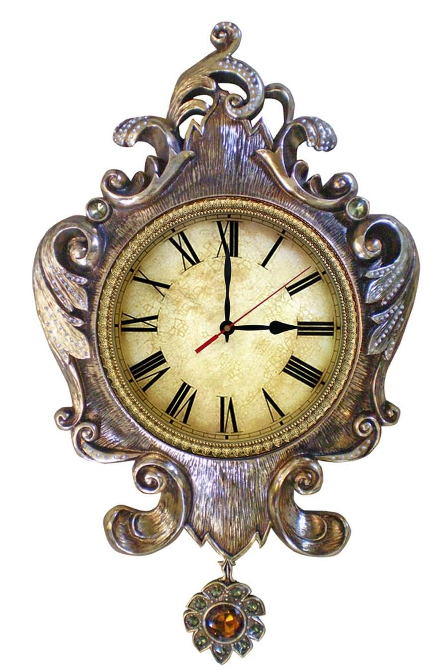 Imax Large Wall Clock With Pendulum Handcrafted Wall