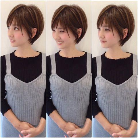 Tresse cheveux courts avec frange : お客様ビフォーアフター