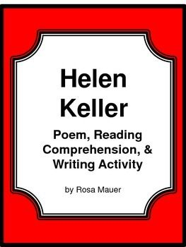 Helen Keller Poem and Literacy Packet