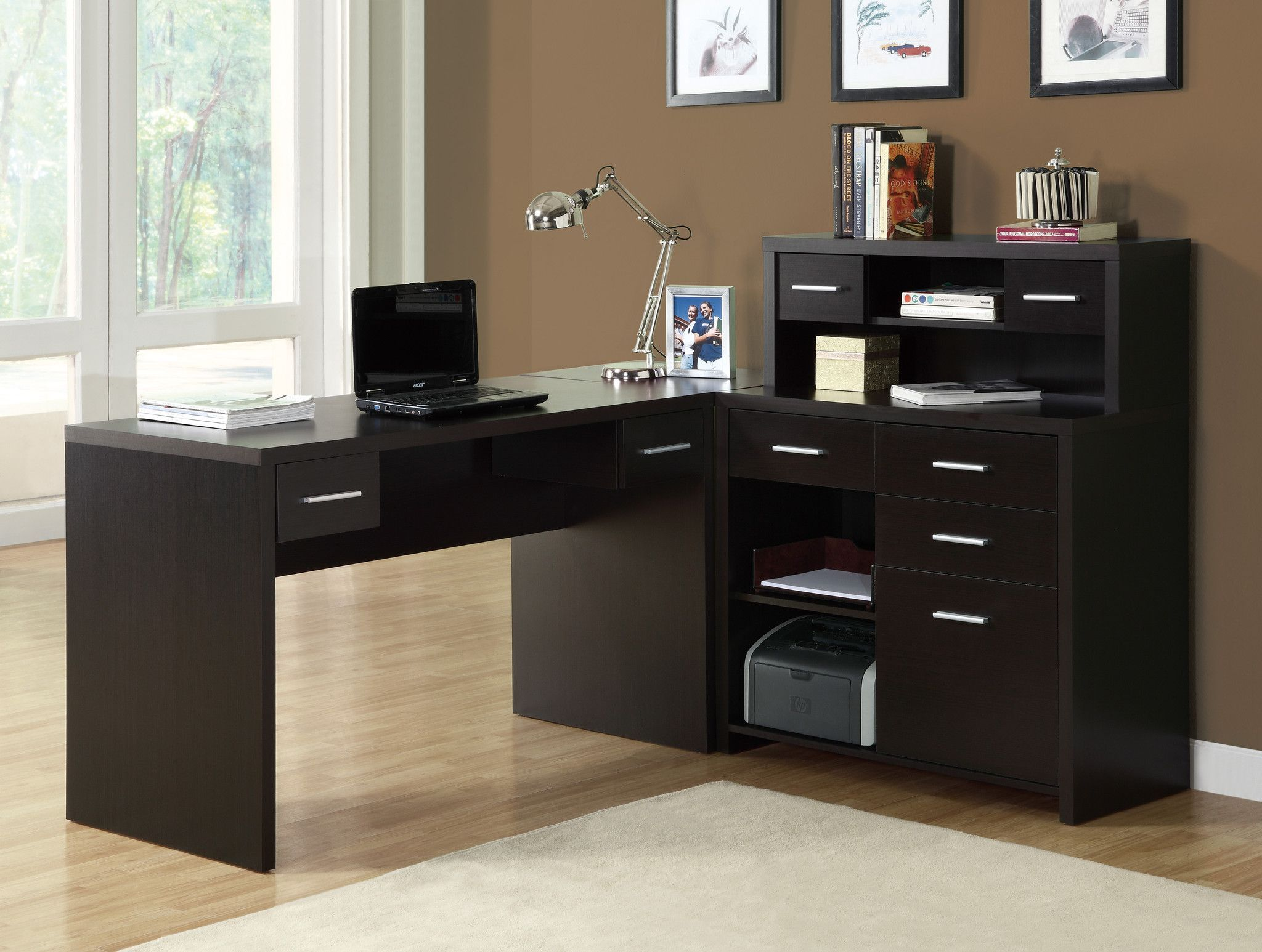 Cuccino Modern L Shaped Desk With