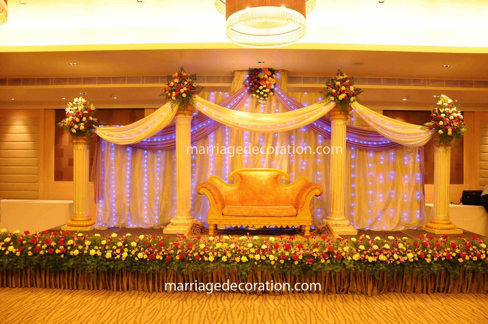 Pictures for decorating a church wedding free wedding for Hall decoration images