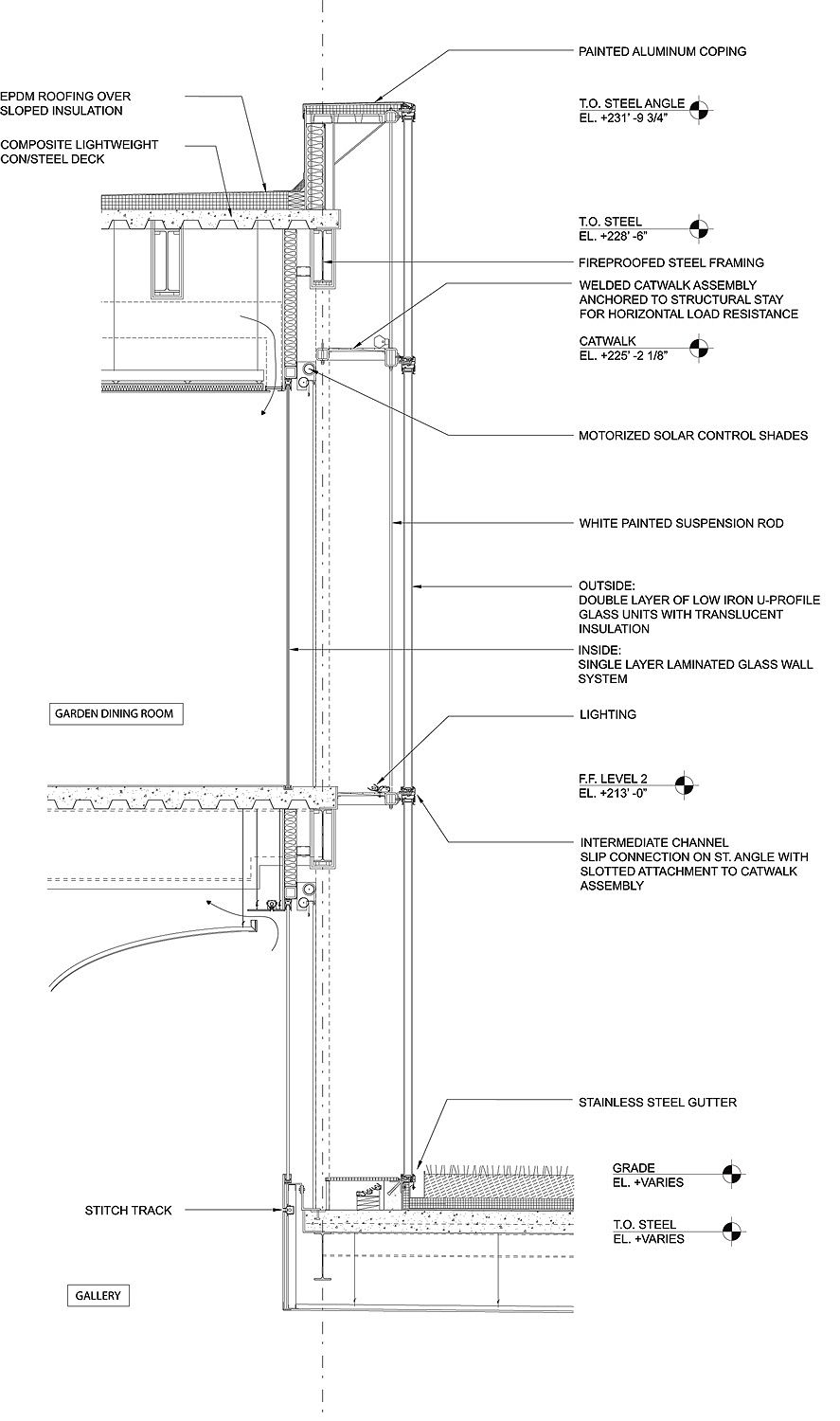 Facade Detail Section Steel Structure Steven Holl Nelson