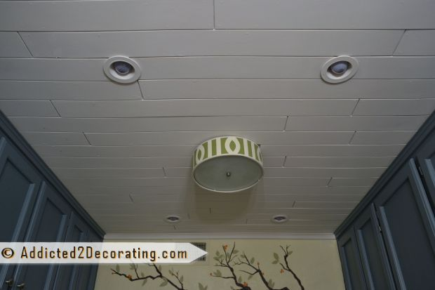 Inexpensive DIY Wood Slat Ceiling - maybe cool in the bedroom?