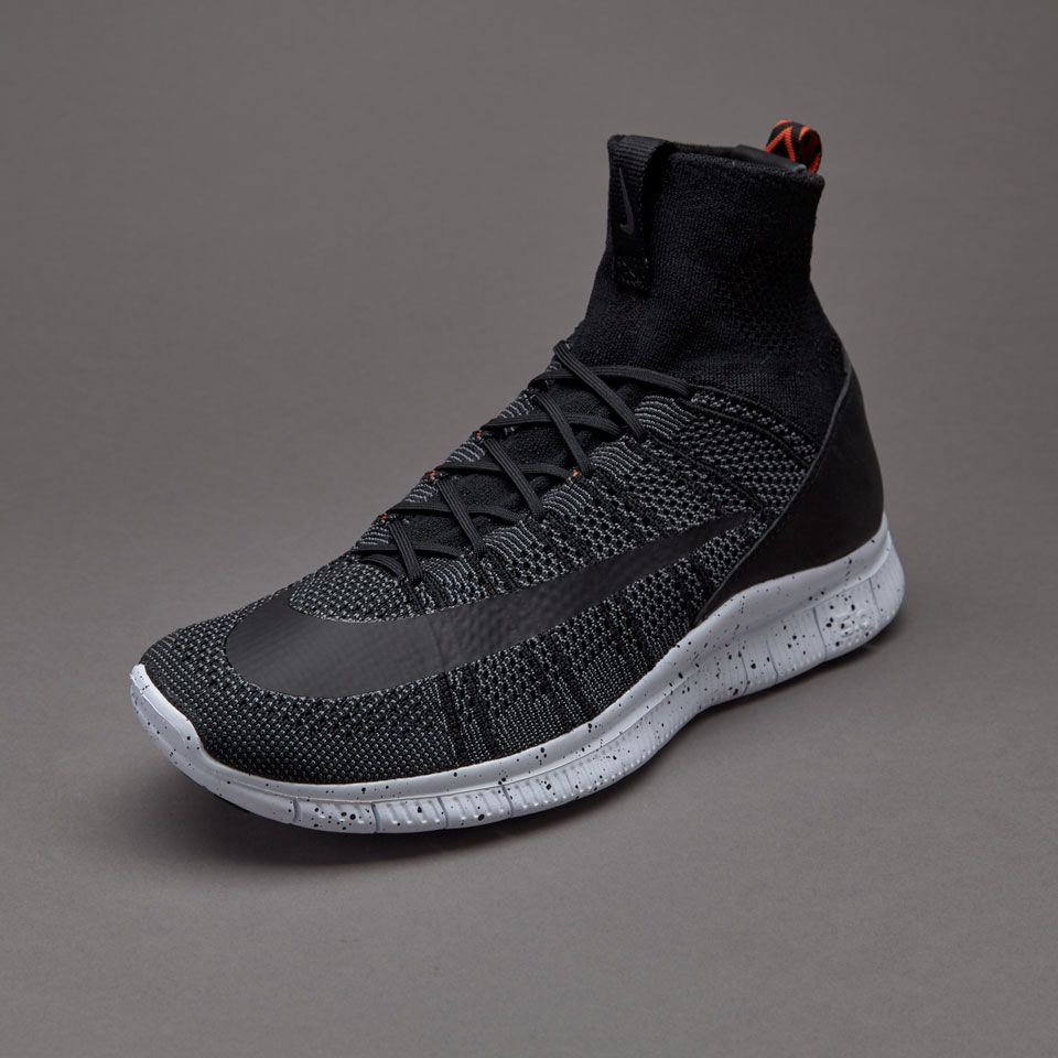 timeless design cdf7a cf12e Nike Free Flyknit Mercurial - Black  Dark Grey  Orange