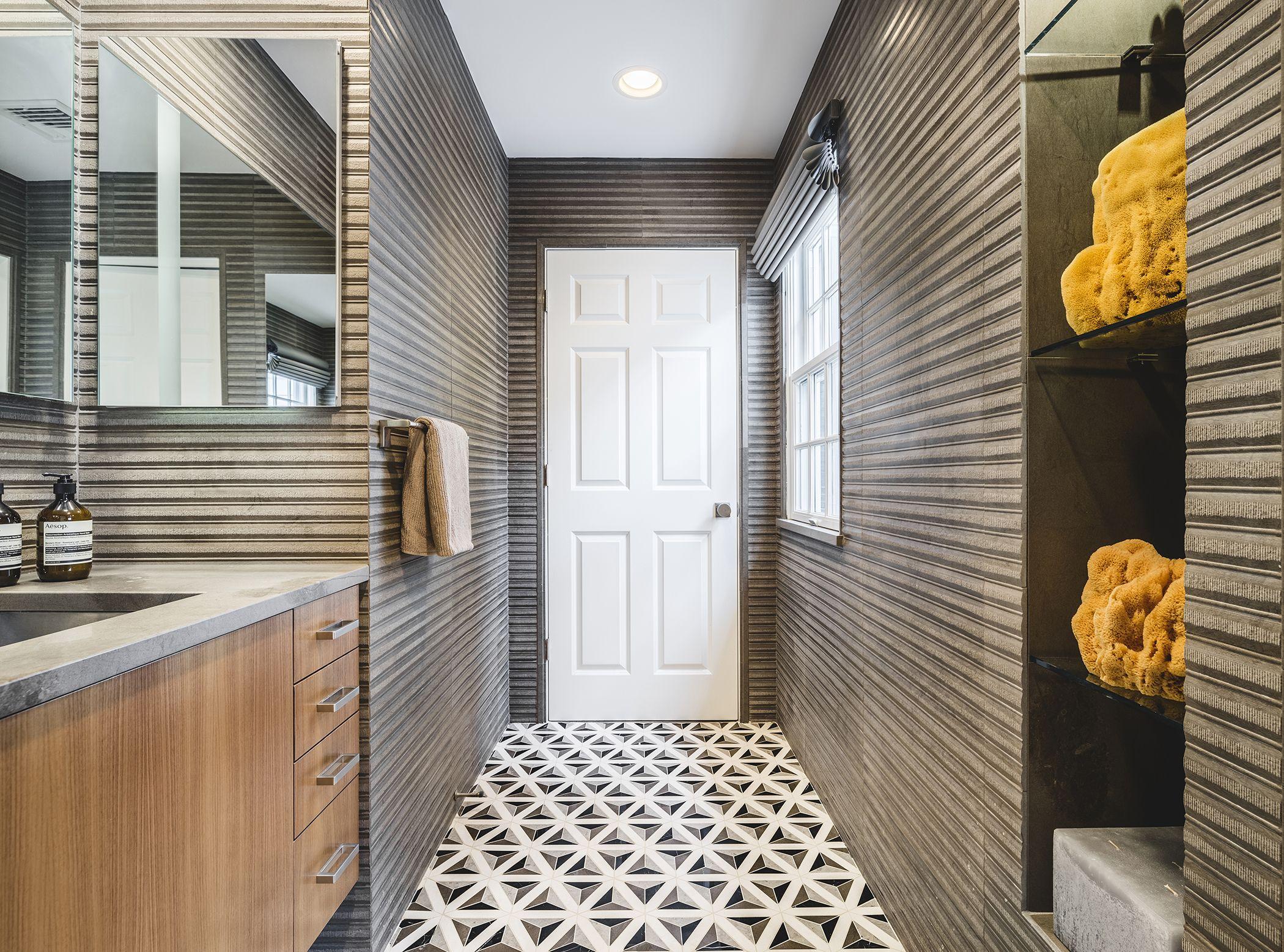 Artistic Tile Duomo Black Floor And Pannelli Grey Foussana Walls Artistic Tile Tile Design Custom Tile Design