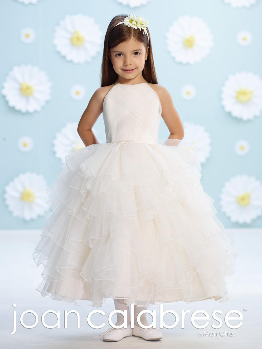 6a574e5dbe9 Joan Calabrese 116366 Flower Girls Mock Halter Dress - French Novelty