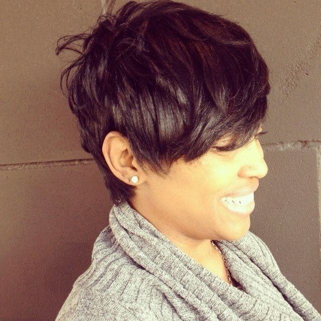 Lovely;~) Good style for growing out a pixie