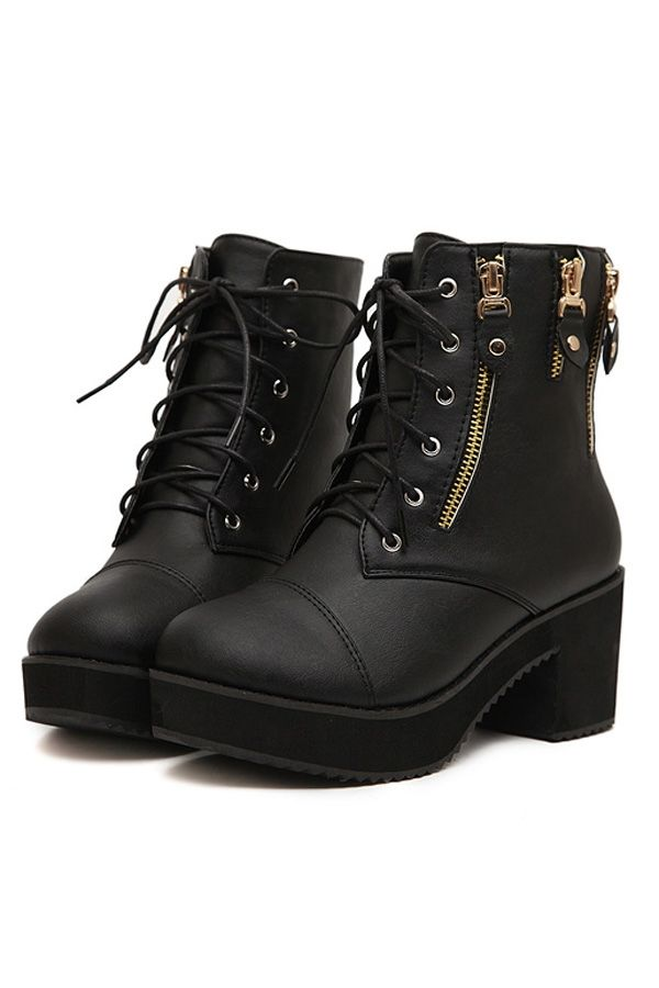 Lace Up Ankle Boots - Cr Boot