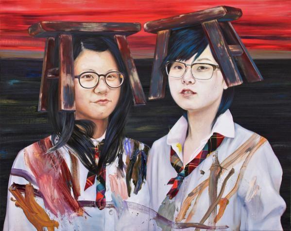 Écolières chinoises — 2013 — huile sur toile — 200 x 250 cm