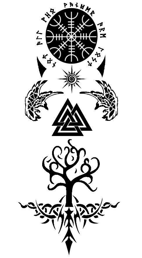 Geometrictattoos Nordictattoo Tattooink Tattoonewschool In 2020 Viking Tattoo Symbol Yggdrasil Tattoo Viking Tattoos