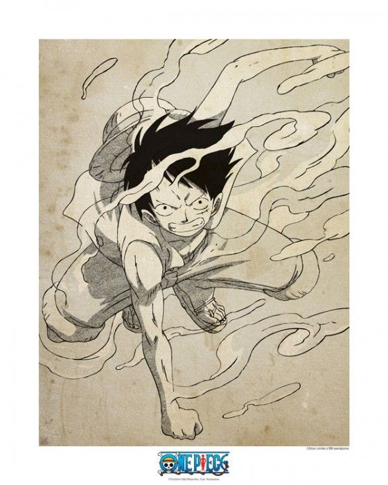 Also if you are wondering. Collector Artprint One Piece Luffy Gear 2 50x40 One Piece Luffy Luffy Gear 2 Luffy