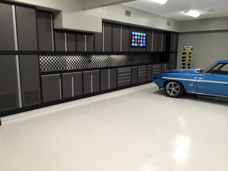 garage cabinets car guy garage. Black Bedroom Furniture Sets. Home Design Ideas