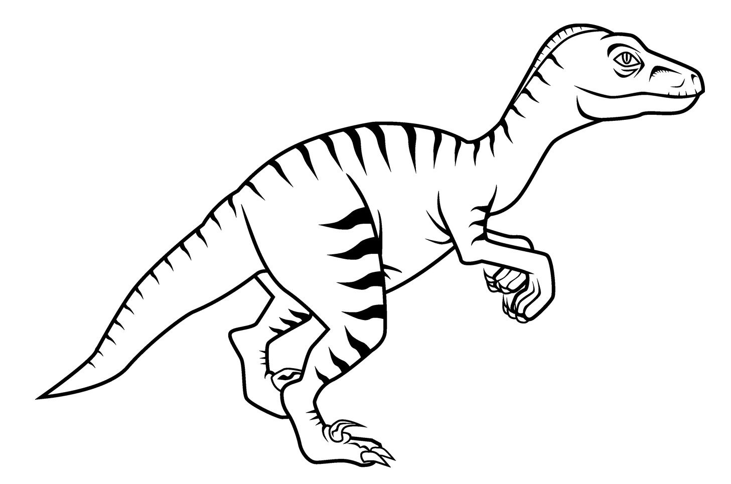 Horrible Velociraptor Dinosaurs Coloring Pages For Kids B6h Printable Dinosaurs Coloring Pages For Kids