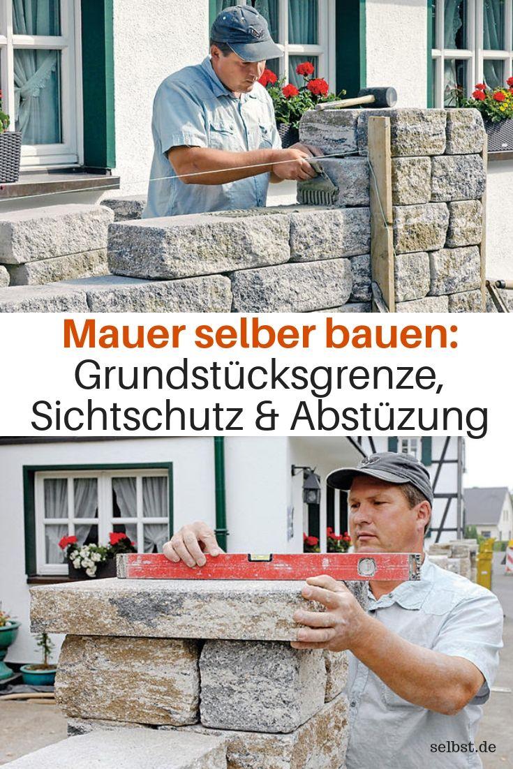 Mauer Selber Bauen Sichtschutz Garten Selber Bauen Mauer Bauen