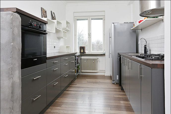 Snyggt med grått och detta golv! Kök/matplats - Värnhem | House ...
