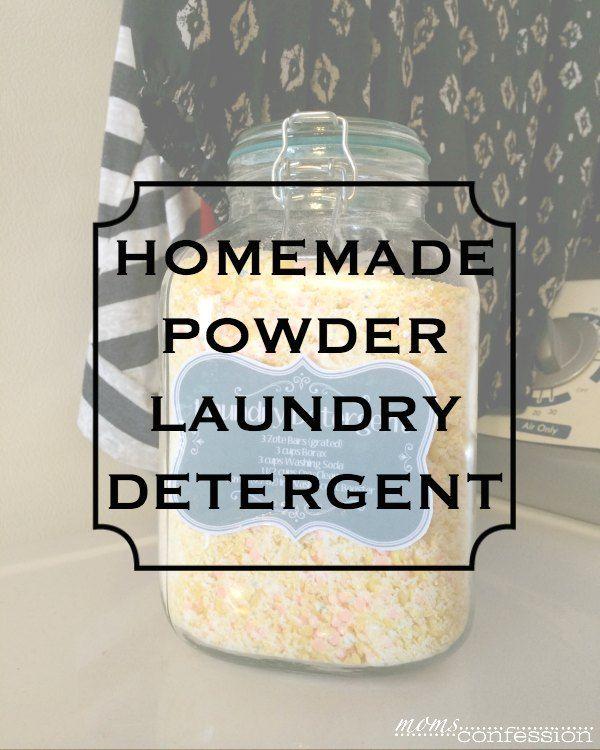 The Best Homemade Powder Laundry Detergent Ever Recipe Powder Laundry Detergent Laundry Detergent Homemade Laundry Detergent