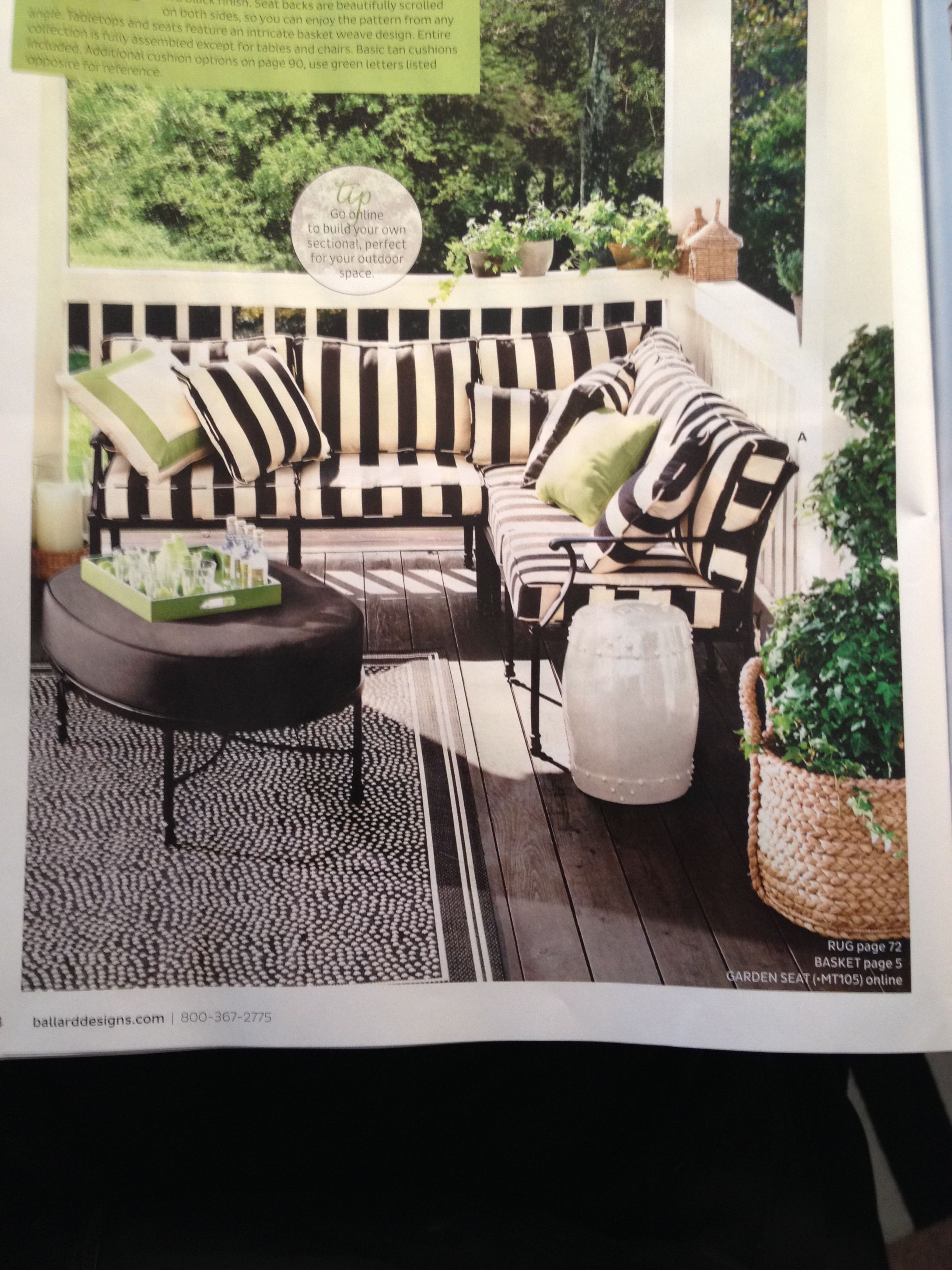 Ballard outdoor sectional fast dry outdoor amalfi 3 piece sectional cushion item fc328 699 00 899 00