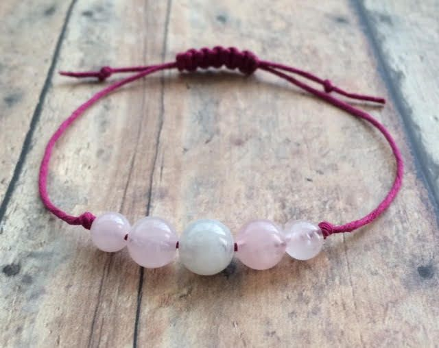 Fertility Bracelet Moonstone Rose Quartz Hemp Infertility Wish Crystals By Thegemnebula On