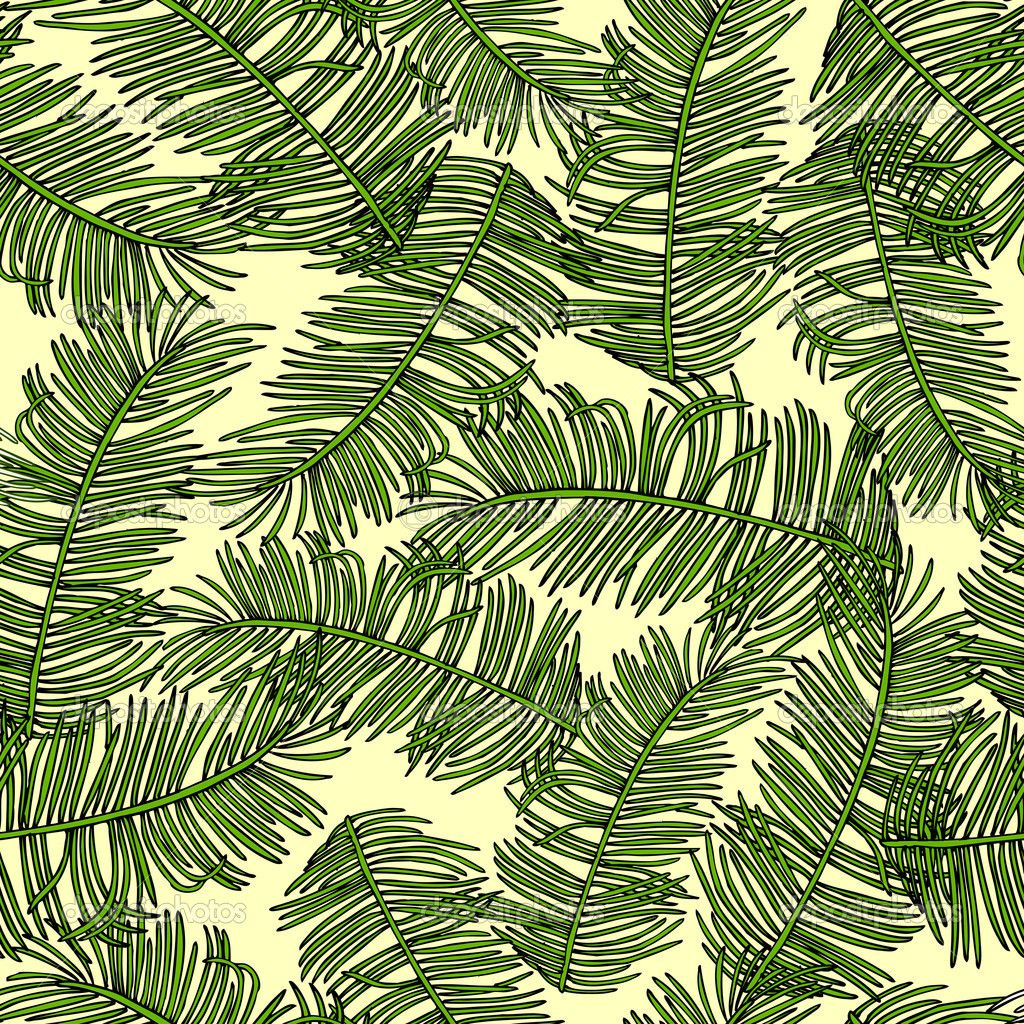 Fabric tree pattern - Retro Style Vector Seamless Pattern Fabric Wallpaper Wrapping And Background With Branches Of Palm Trees Ornament Summer And Spring Theme For