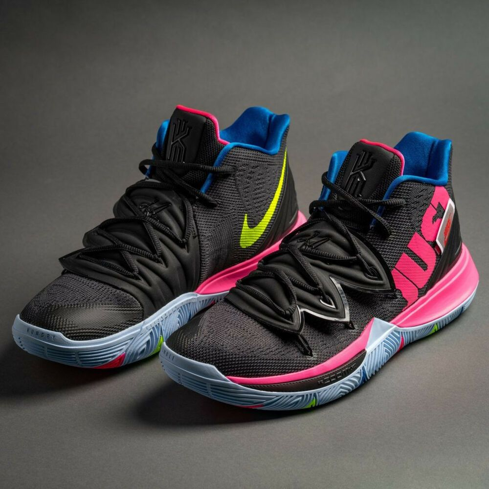NIKE KYRIE 5 JUST DO IT SIZE 12 AO2918003 BLACK/VOLT PINK