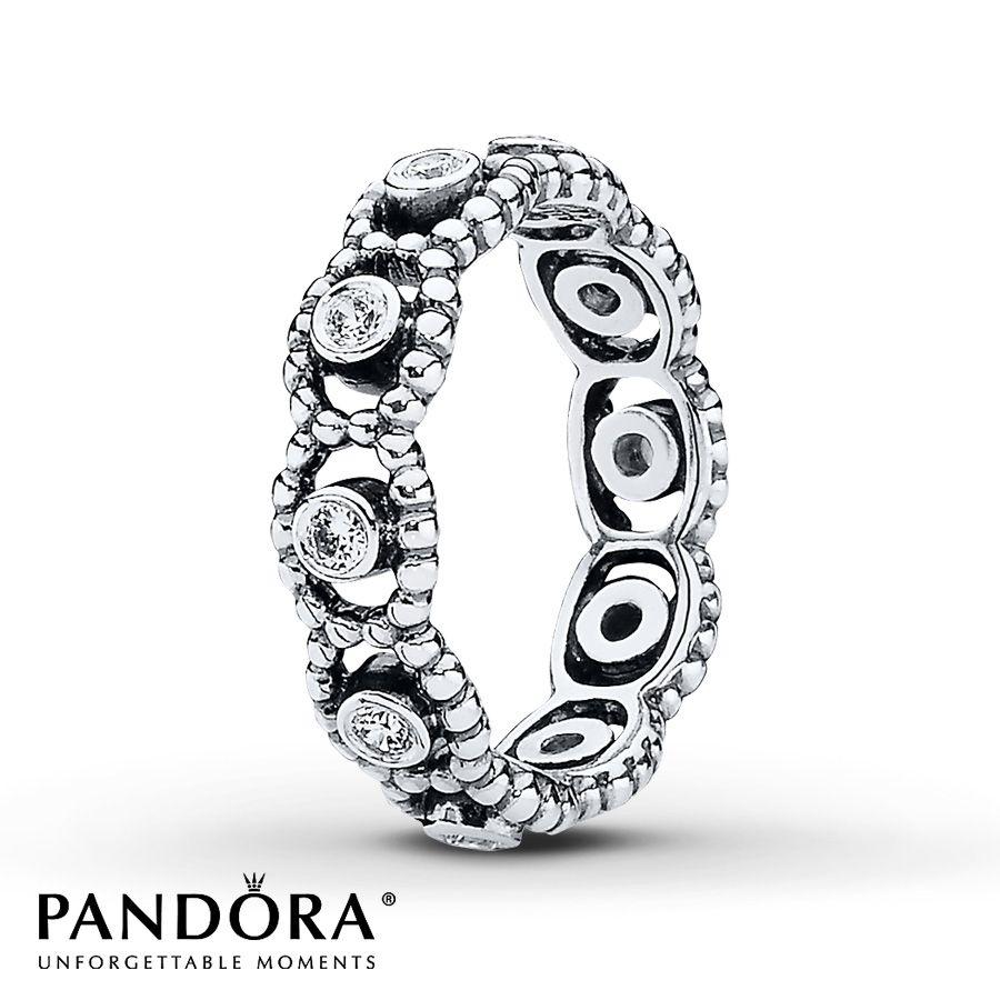 Jared Pandora Ring CZ Her Majesty Sterling Silver favorite