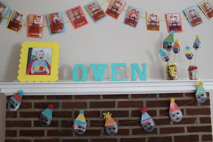 Darling DIY Birthday Decorations Using Photos