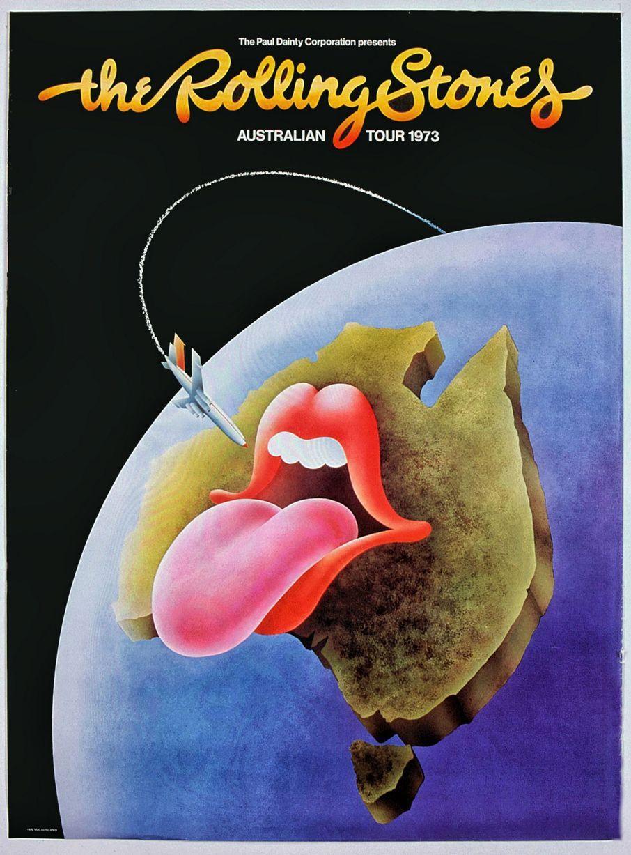 Bildergebnis für fotos von plakaten der rolling stones australien tour 1973
