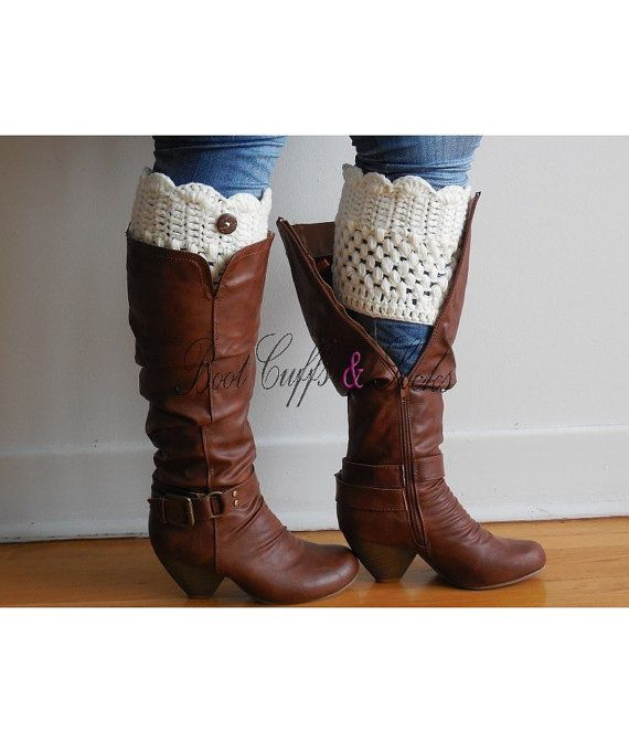 Available Plus Size boot cuffs, Womens Boot Cuff, also Wide Calf ...