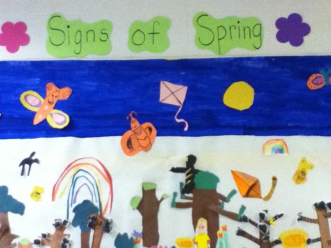 Signs of Spring Class Mural