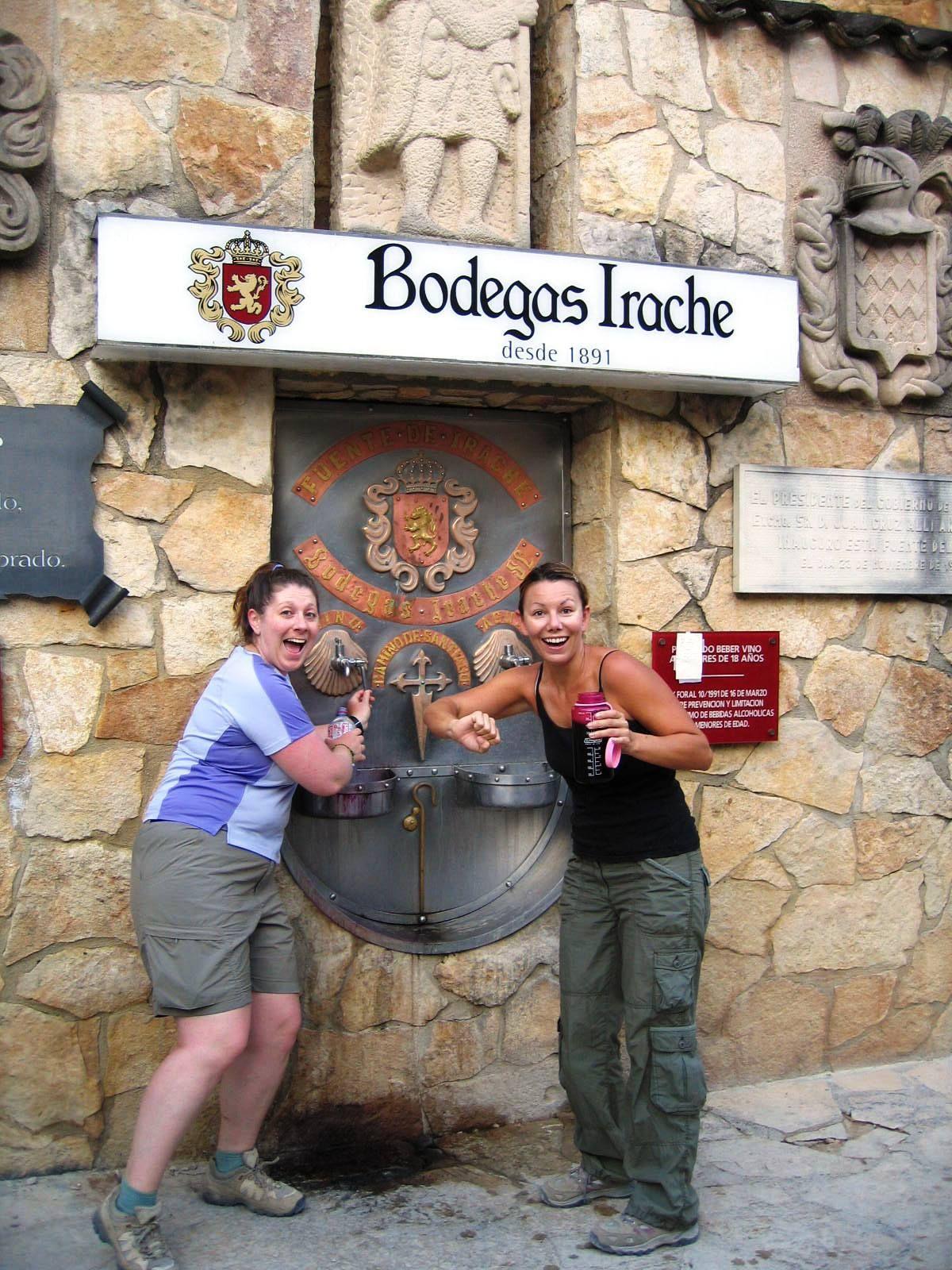 Wine fountain!!! Free wine for pilgrims on El Camino de Santiago de Compostella, Spain. FREE WINE!! www.finisterra.ca