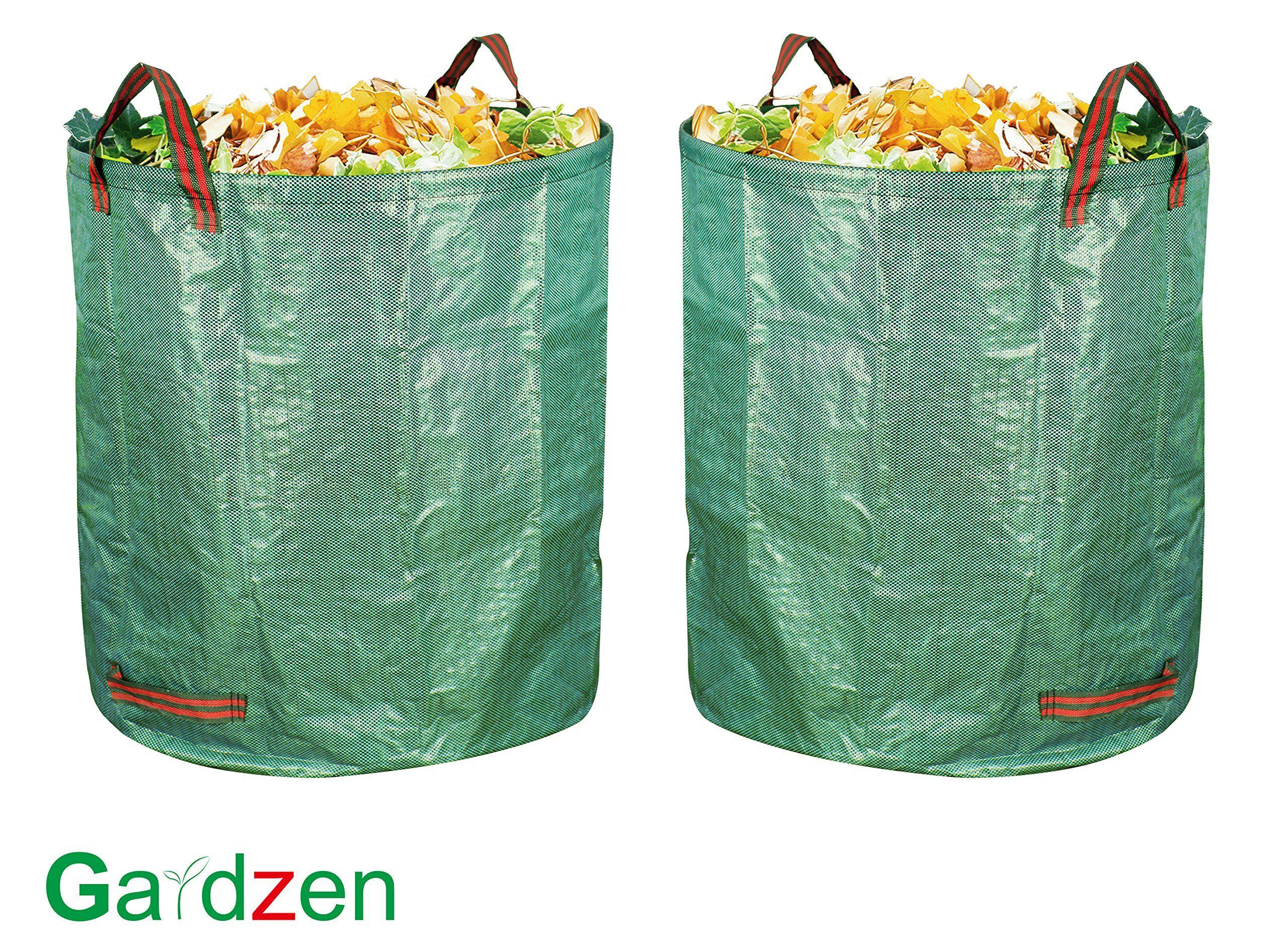 Gardzen 2pack 132 Gallons Gardening Bag With Gloves Extra