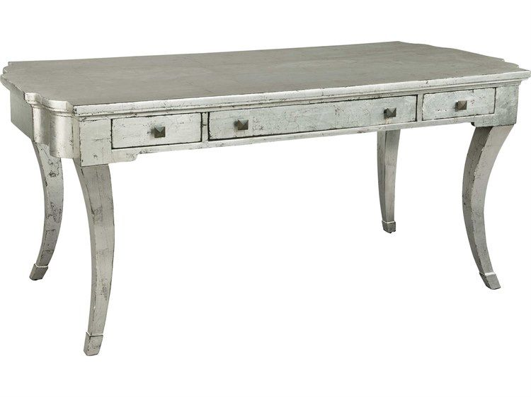 Hekman Accents Silver Leaf Saber Leg Table Desk is part of Silver Home Accents Sofas - Hekman Accents Silver Leaf Saber Leg Table Desk