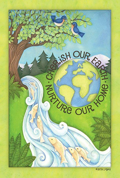 Toland Home Garden Cherish Our Earth 12 5 X 18 Inch Decorative Usa