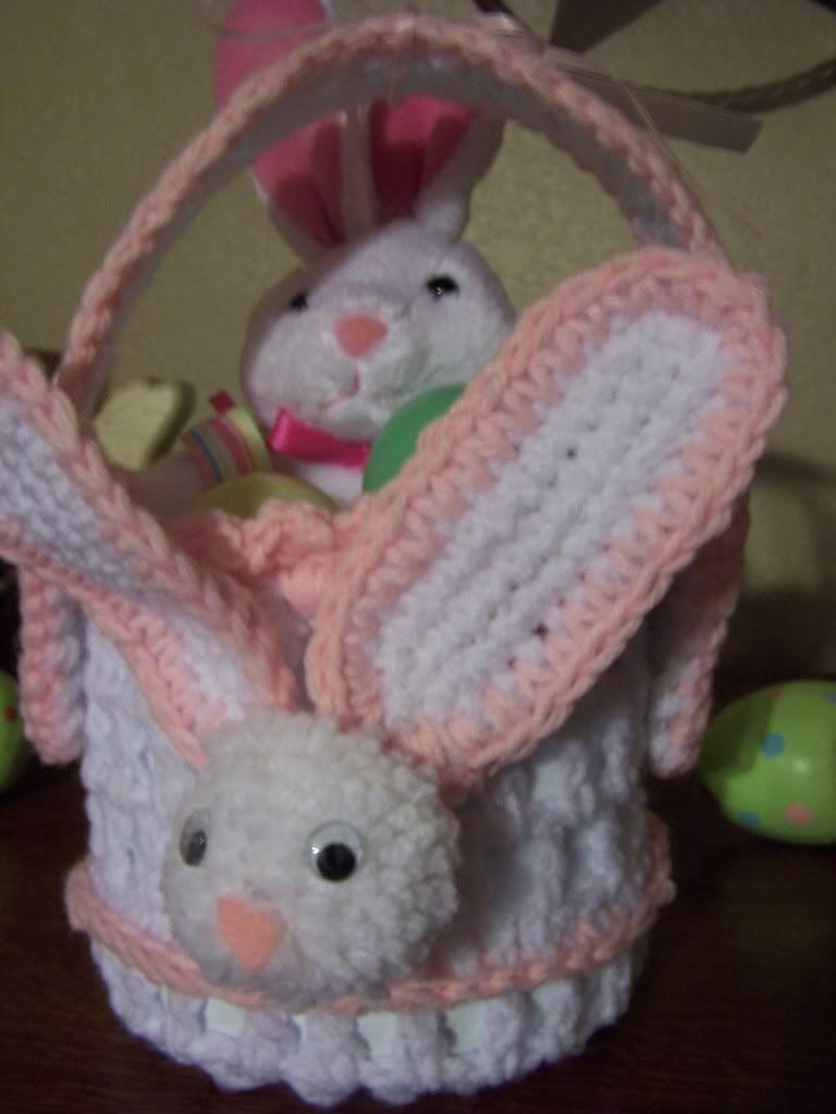 bleach bottle crocheted bunny basket easter pinterest