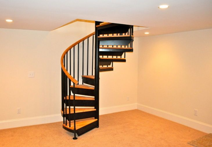 dazzling design ideas spiral staircase basement plus 46 stair rh pinterest com